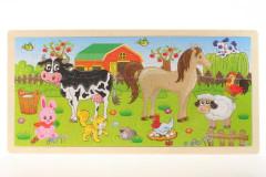 Puzzle zvířátka dřevo