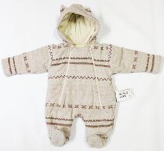 Zimní termokombinéza celorozepínací norský vzor béžová Baby Service