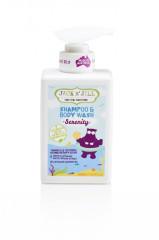 Sprchový gel a šampon SERENITY 300ml Jack N´ Jill NATURAL BATHTIME