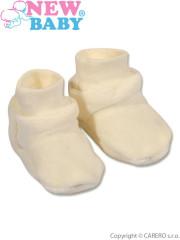 Dětské bačkůrky New Baby béžové vel. 62