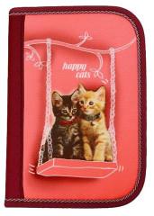 Školní pouzdro 2-klopy Happy cats plněné Emipo