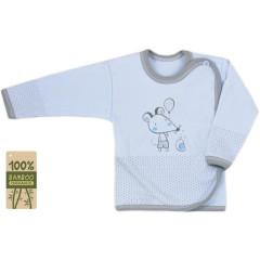 Kojenecká košilka bambusová Koala Mouse and Snail modrá