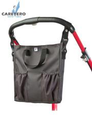 Taška na kočárek CARETERO 2v1 graphite