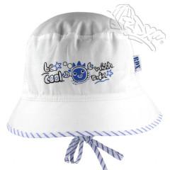 Chlapecký letní vázací klobouk Krab Bílý RDX