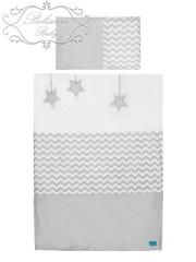 Dětské povlečení 2 dílné Belisima Hvězdička šedé 135 x 100 cm