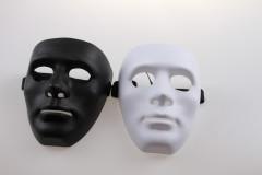 Maska bílá/černá