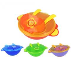Dětská miska se lžičkou a vidličkou Akuku