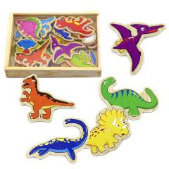 Dřevěné magnetky dinosaurus 20 kusů