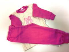 Bavlněné pyžamo růžové RŮŽOVÍ MEDVÍDCI Vel. 86