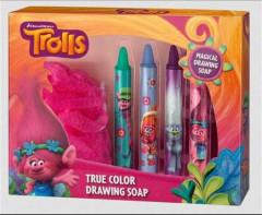 Kreslící mýdla do vany + houba Troll