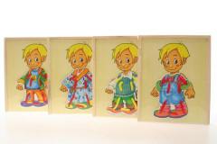 Dřevěné oblékání kluk