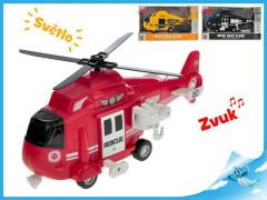 Helikoptéra 1:16 na setrvačník na baterie se světlem a zvukem