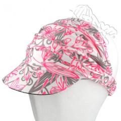 Řasená čelenka s kšiltem růžová Coolmax RDX