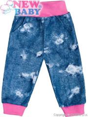 Kojenecké tepláčky s kapsami New Baby Light Jeansbaby růžové