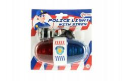 Policejní světlo na kolo plast se zvukem 13 cm