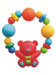 Dětské chrastítko medvídek s korálky Baby Mix