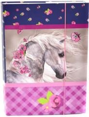 Desky na sešity Heft box A4 Junior kůň NEW 2017
