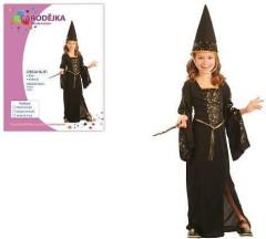 Karnevalový kostým - ČARODĚJKA, Vel. 120-130 cm