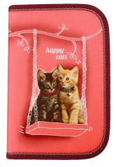 Školní pouzdro 1-klopa Happy cats prázdné Emipo