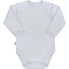 Kojenecké body s dlouhým rukávem New Baby Pastel šedé