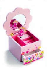 Skříňka hrající Princess květina