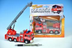 Auto hasiči kov 17cm česky mluvící na zpětné natažení