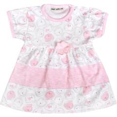 Šatičky krátký rukáv MEDVÍDEK růžové Baby Service vel. 56 - 86