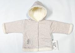 Zimní kabátek s kapucí wellsoft zateplený melírek pastelový červený Baby Service