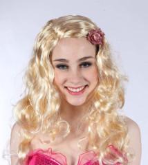Paruka blond - dlouhé vlnité vlasy
