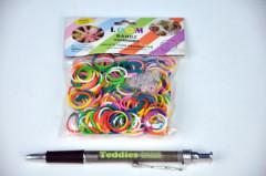 Udělej si svůj náramek - gumičky 300ks dvoubarevné + náčiní