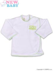 Kojenecká košilka New Baby Classic se zeleným lemem a výšivkou vel. 56