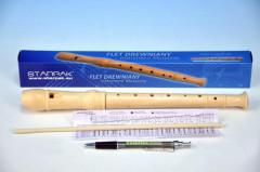 Flétna dřevo 31cm v krabičce