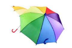 Duhový deštník manuální 4 barvy
