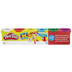 Play-Doh 4 kelímky + 2 bonus - klasické barvy