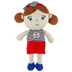 Edukační plyšová panenka Baby Mix námořník holka