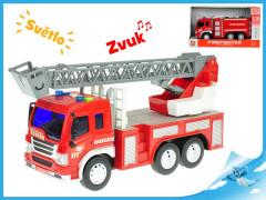 Auto hasičské 27cm 1:16 na setrvačník na baterie se světlem a zvukem