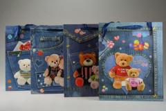 Dárková taška Medvědi se třpytkami 26 x 32 cm