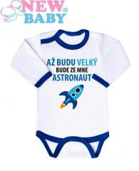 Body s potiskem New Baby AŽ BUDU VELKÝ, BUDE ZE MNE...