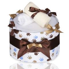 Plenkový dort velký T-tomi, bílý - tlapky