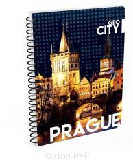Kroužkový blok A4 GEO CITY Prague