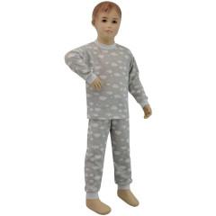 Bavlněné pyžamo obláčky šedé Esito Vel. 80 - 116