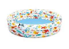Bazének s rybičkami 56431 kruh 132x28cm