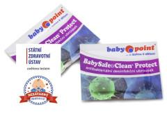 BabySafe&Clean Protect Desinfekční vlhčený ubrousek