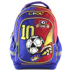 Školní batoh Goal - Modro-červený II.
