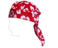 Baby Banz Šátek na hlavu s UV červený květ