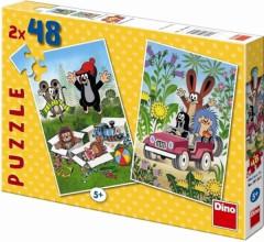 Puzzle Krteček se raduje 2x48 dílků