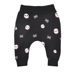 Kojenecké tepláčky Koala Baggy černo-růžové