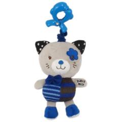 Dětská plyšová hračka s hracím strojkem Baby Mix kočička modrá