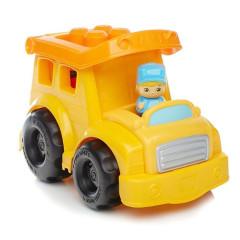 Mega Bloks First Builders vozidla pro malé stavitele - Školní autobu s modrým panáčkem