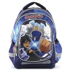 Školní batoh Monsuno - Modro-černý